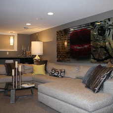 modern basement by Dwelling Designs