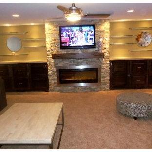 Trendy basement photo in Cincinnati