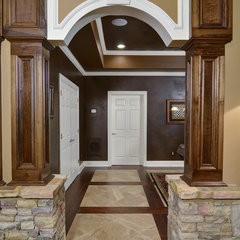 traditional basement by Hall Design Build