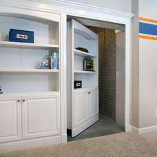 Traditional Basement by HomeFront Interior Design