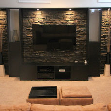 Contemporary Basement Basement Remodel