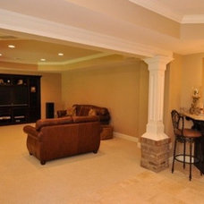 Traditional Basement Basement Remodel