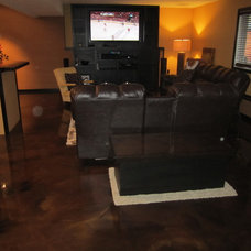 Traditional Basement by JRK Custom Surfaces