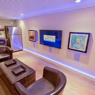 Inspiration for a timeless basement remodel in Philadelphia