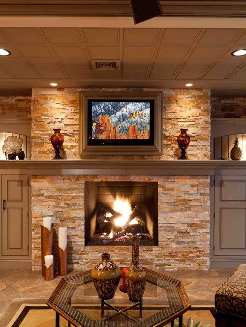 Tropical Electric Fireplace Home Design Ideas Photos