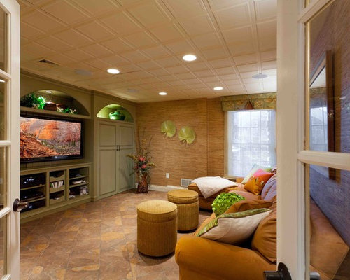 Top 20 Tropical Basement Ideas & Photos | Houzz