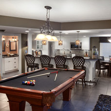 Contemporary Basement by Nicholson Builders