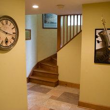 Traditional Basement by Oak Design & Construction