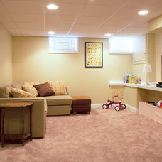 Traditional Basement by MATCH Remodeling, Inc.