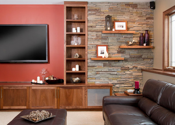 Contemporary Basement by Sethbennphoto