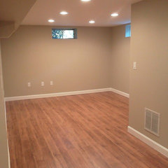 traditional basement by TMK Remodeling