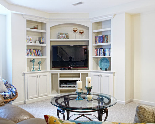 corner entertainment center photos - Built In Entertainment Center Design Ideas