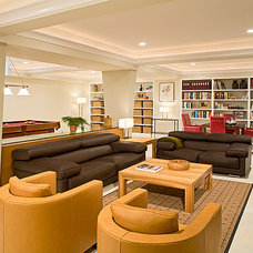Contemporary Basement by Wentworth, Inc.