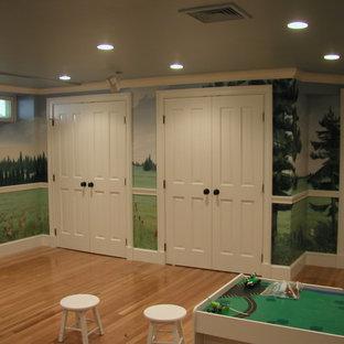 Basement - traditional basement idea in Boston
