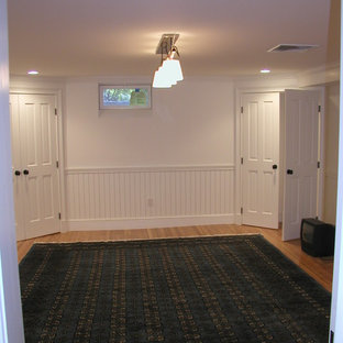 Inspiration for a timeless basement remodel in Boston