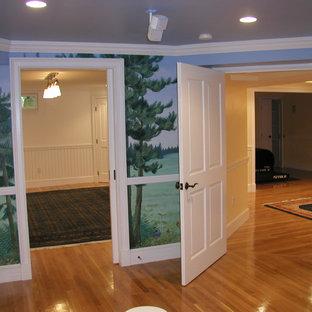 Elegant basement photo in Boston