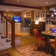 Contemporary Basement by Fisher Group LLC