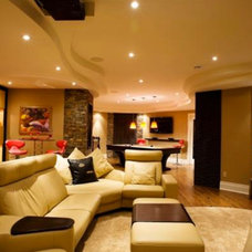 Contemporary Basement by Bernacki & Beaudry Design Corp.
