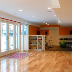 contemporary basement by Peregrine Design Build