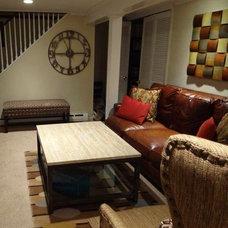 Eclectic Basement by Decorative Arts & Design
