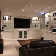 Traditional Basement by Fine Design Living