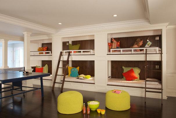 Contemporary Basement by Titus Built, LLC