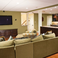 traditional basement by Pine Street Carpenters & The Kitchen Studio