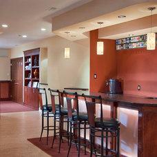 Contemporary Basement by J. Schwartz, LLC Remodeling & Fine Homebuilding