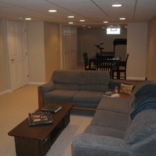Traditional Basement by Kirby Mast of Hartville Hardware
