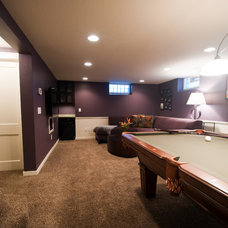Contemporary Basement by Metro Interiors