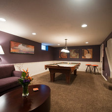 Contemporary Basement by Metropolitan Interiors