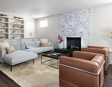 Basement renovation photo shoot