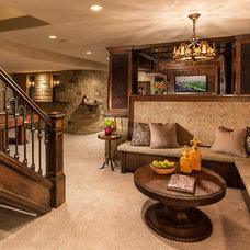 Traditional Basement by Renaissance Design & Renovation