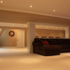 Traditional Basement by Westlake Construction