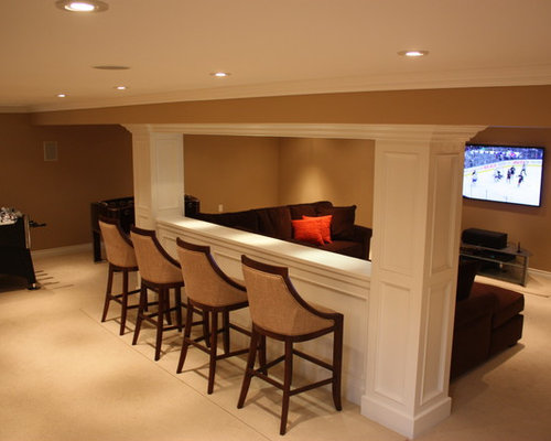 Basement Half Wall Ideas Pictures Remodel And Decor