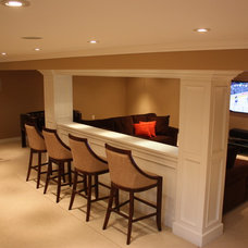 Modern Basement by Westlake Construction