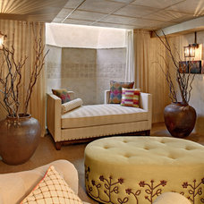 Transitional Basement by Sheila Rich Interiors, LLC