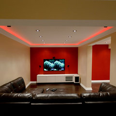 modern basement by spaces inc.
