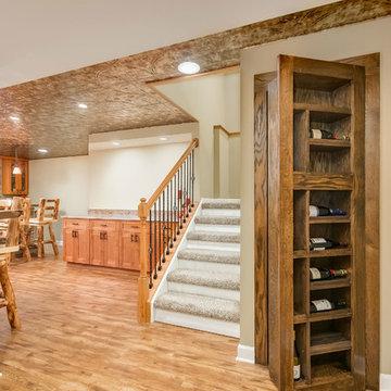 Basement Stairs and hidden bookcase door