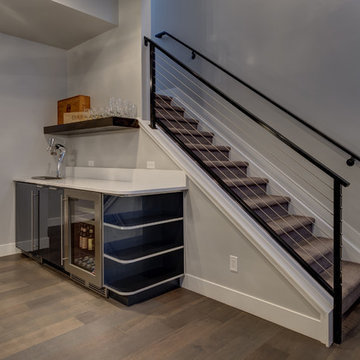 Basement Stairs and Walk-up Bar