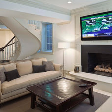 Traditional Basement by Steven Mueller Architects, LLC