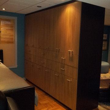 Basement Storage and bedroom