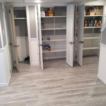 Basement Storage Ideas - Open Closet - Shelving