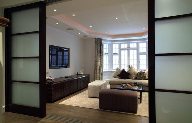 Contemporary Basement by London Basement