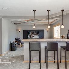 Modern Basement by Finished Basement Company