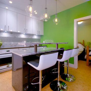 Basement Unit Kitchen With Bar