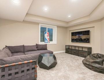 Basement Video Game Room