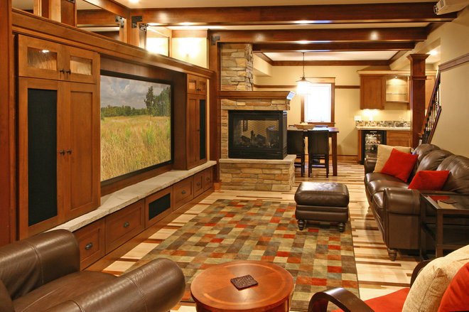Traditional Basement by w.b. builders