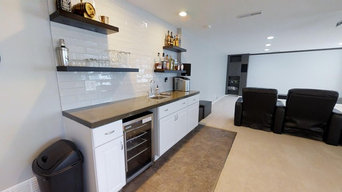 Basement Wet Bar & Home Theater Remodel