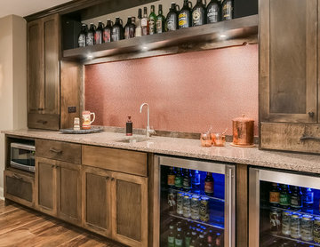 Basement Wet Bar Counter